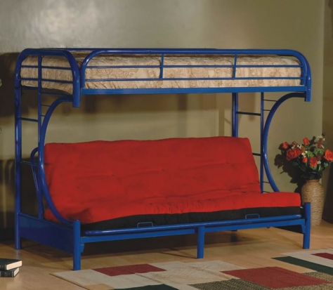 Twin Bunk Bed with Futon Front