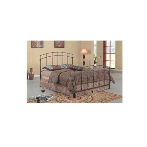 Chandler Bed Antique Silver Finish by Kimberly