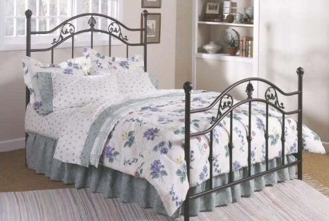Jefferson Bed with Antique Bronze Finish by Kimberly Front
