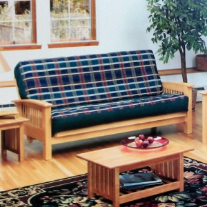 Kimberly Boulder Futon Frame with Teak Finish