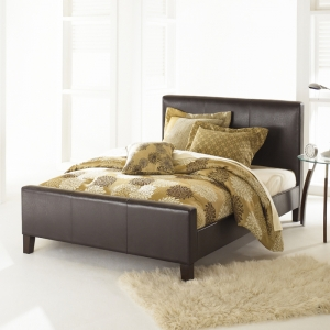 Euro Platform Bed by Fashion Bed in Sable