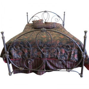 Isabella Bed with Aged Stone Finish by Until Daybreak