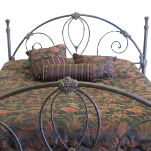 Isabella Headboard with Aged Stone Finish by Until Daybreak