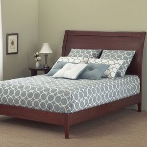 Java Platform Bed by Fashion Bed Group in Mahogany