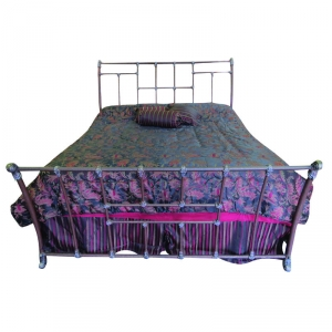Lisbon Bed in Textured Charcoal Brown Finish by Wesley Allen