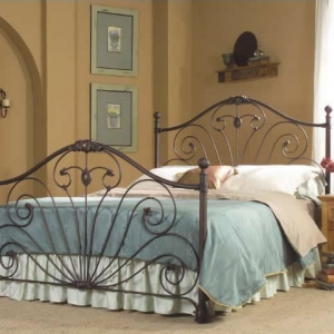 Vanessa Bed with Aged Bronze Finish by Kimberly